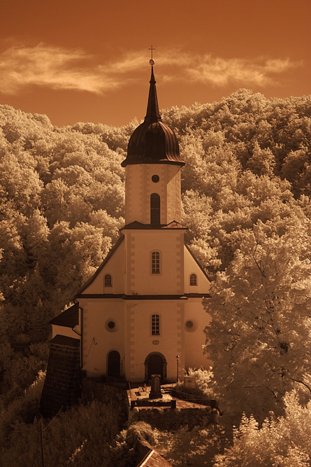 Tharandt Kirche im IR