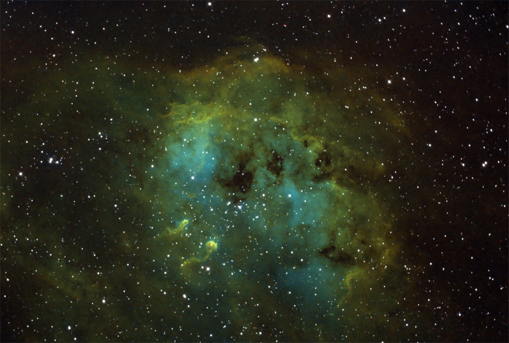 ic410 hubble palette